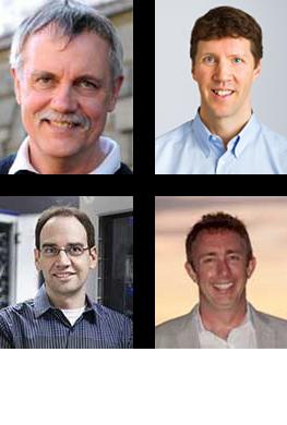Clockwise from top left: Ruedi Aebersold, Brendan MacLean, Michael MacCoss, Oliver Kohlbacher
