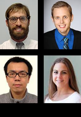 Clockwise from top left: Andy Hoofnagle, Steven Braun, Lindsay Pino, Tsung-Heng Tsai