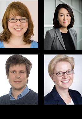 Clockwise from top left: Susan Abbatiello, Meena Choi, Olga Vitek, Laurent Gatto